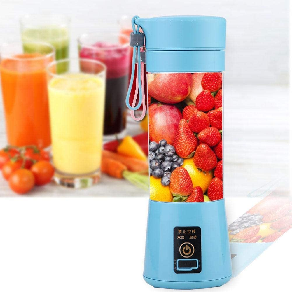Multi-function Juicer Machine, Large Feed Chute Easy Clean, Fast Extract Various Fruit and Vegetable Juice, Anti-drip, BPA Free, For Home/Kitchen(Blue)