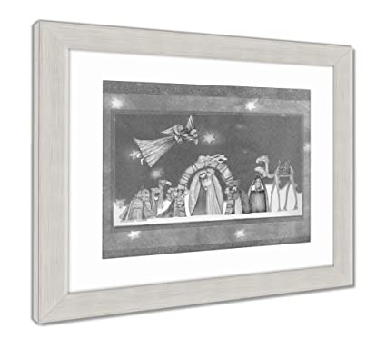 Amazon.com: Ashley Framed Prints Christmas Nativity Scene Jesus Mary ...