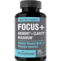 Brain Focus Supplement for Memory Support & Brain Booster - Nootropics Energy Pills...