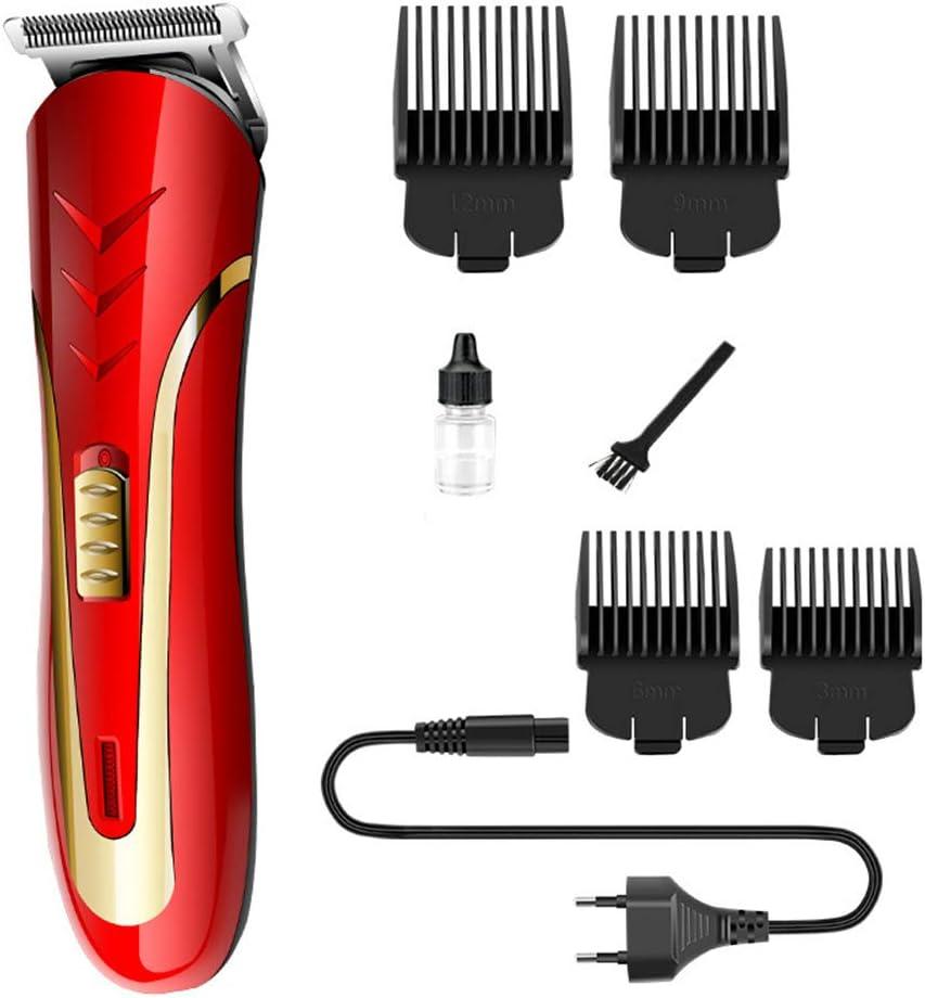 Maquinillas de afeitar eléctricas para hombres, cortapelos, cortapelos eléctricos, cortapelos, cortapelos para afeitar, ríos y lagos, limpieza de brochas, cable de carga, rojo