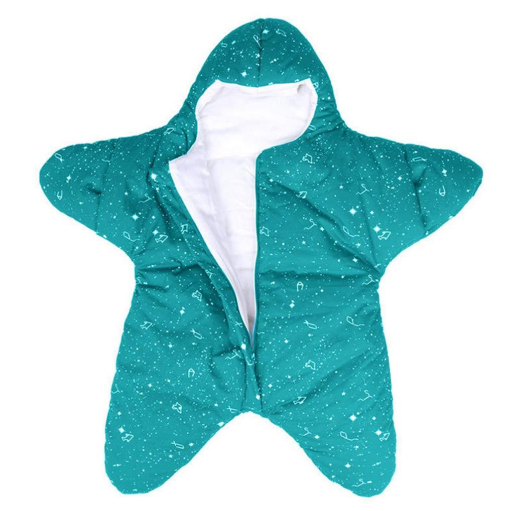 Otoño e invierno Recién nacido Estrella de mar Saco de dormir Algodón Portátil Manta envuelta Leotardo Bebé Bebé 0-12 meses: Amazon.es: Bebé