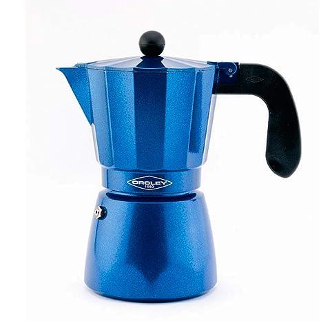 Oroley - Cafetera Italiana Inducción Blue Induction para Todo tipo de Cocinas, 12 Tazas