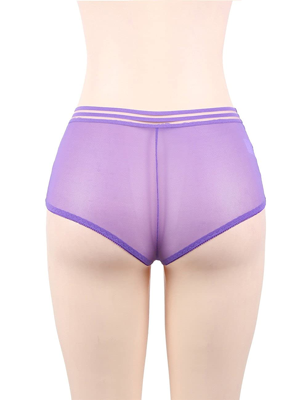 Oliveya Womens Mesh Panty Lace Underwear Soft Briefs High Waist Lingerie Hipster