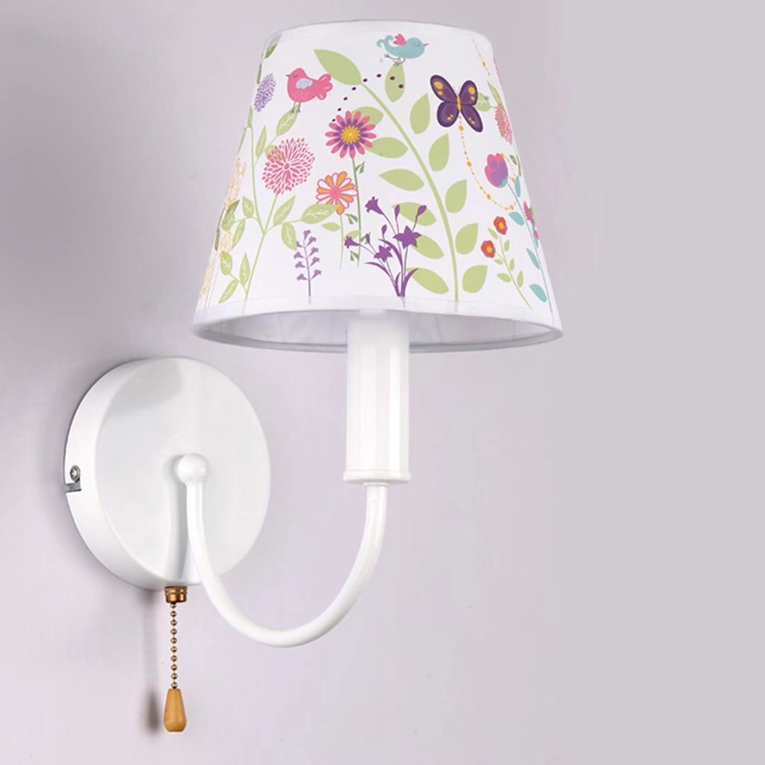 Children Wall Lamp Pull Chain Switch E14 Bedroom Bedside Reading Simple Creative Boys and Girls Wall Sconces