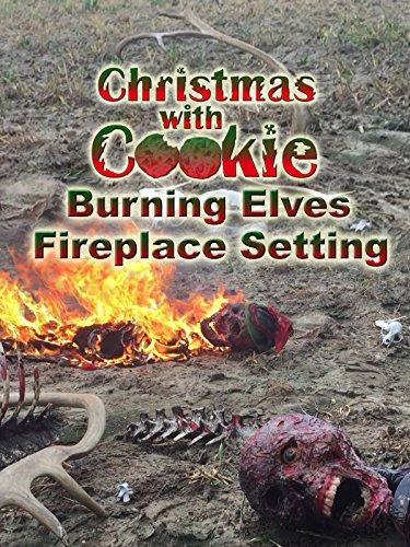 Christmas Elves Cookie - Christmas with Cookie: Burning Elves Fireplace Setting