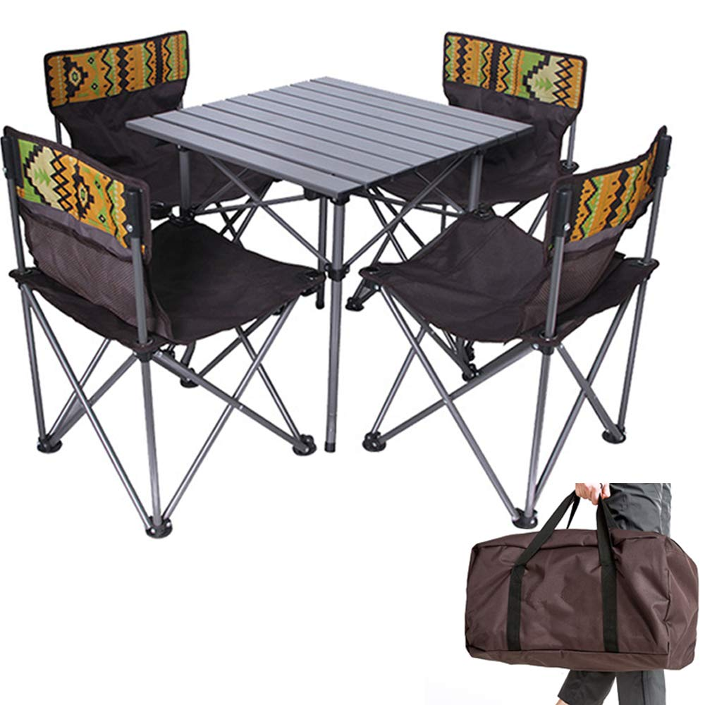 Kalwason Baby Kids Camping Chairs and Table – Lightweight Portable Folding Chairs with a Carry Bag for Family Camping Trip, Beach, Backpacking & Picnic, 16lbs Weight by Kalwason (Image #1)