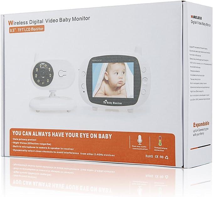 Infant Optics Video Baby Monitor con Pantalla de Temperatura visi/ón Nocturna hipnosis m/úsica intercomunicador bidireccional 3.5 Pulgadas YQZ Vigilabeb/és Inalambrico con C/ámara