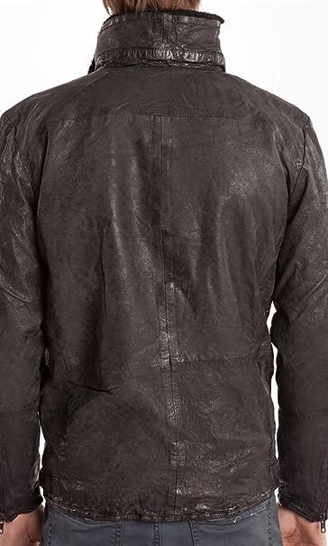giacca giovanni nero pelle