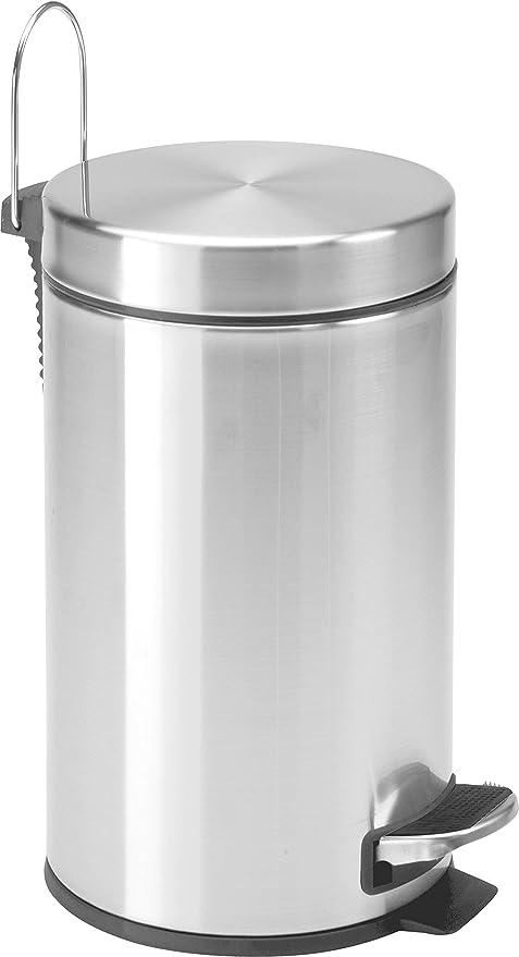 20 Litri Mondex INX160-00 Pattumiera a Pedale in Acciaio Inox per Bagno e Cucina Cromato