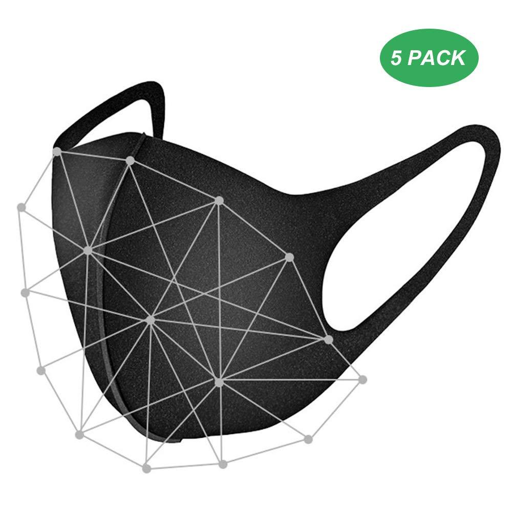 Bonbela 10pcs antivaho Máscaras Haze a Prueba de Polvo del Aire de la mascarilla del algodón Reutilizable cómodo y Transpirable Seguridad 3D Máscara-Negro respirador