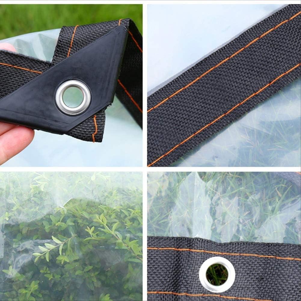 B/âche /épaisse Feuille de Plastique ext/érieure auvent Chiffon B/âche de Protection Transparente B/âche de Pluie avec Oeillet LXXTI Bache Impermeable Transparente