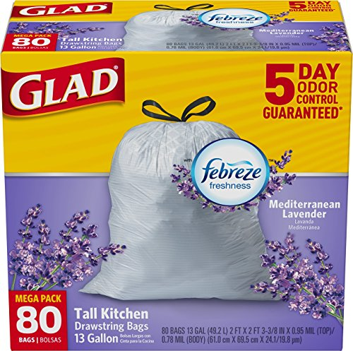 Glad OdorShield Kitchen Drawstring Trash product image