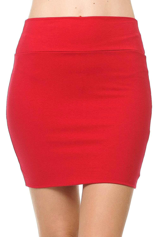 Fashion Aktiv Basic Double-Layer Cotton Simple Stretchy Tube Pencil Mini Skirt