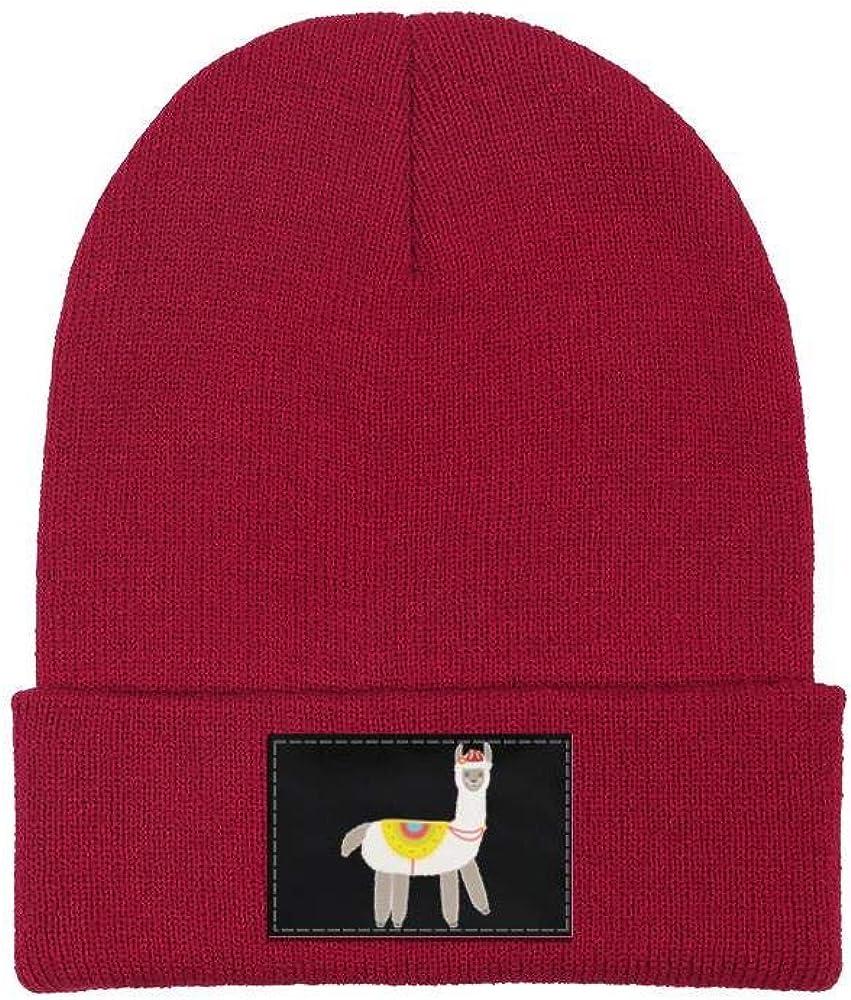 ZYNEW Cute Baby Fluffy Alpaca Llama Mens Womens Beanie Hat Warm Woolen Sport Skull Cap One Size