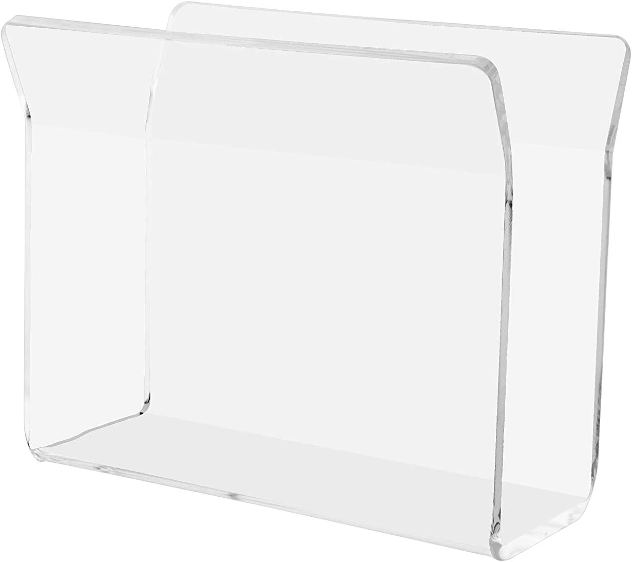 """Marketing Holders 5""""W Napkin Holder U-Shape Guest Bathroom Restaurant Diner Clear Acrylic Tabletop Stand Counter Top Kitchen Bar Organizer Space Saver Value Cloth Paper Upright"""