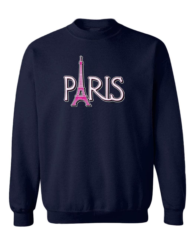 Eiffel Tower France French Youth Fleece Crewneck Sweater Paris