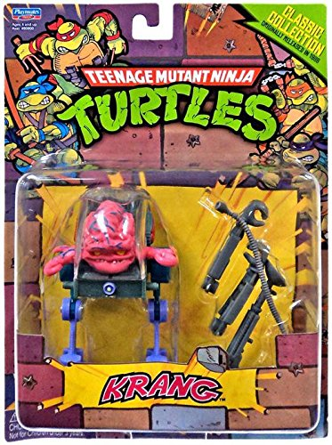 Playmates Teenage Mutant Ninja Turtles Classic Collection Action Figure, Krang, 4 Inches