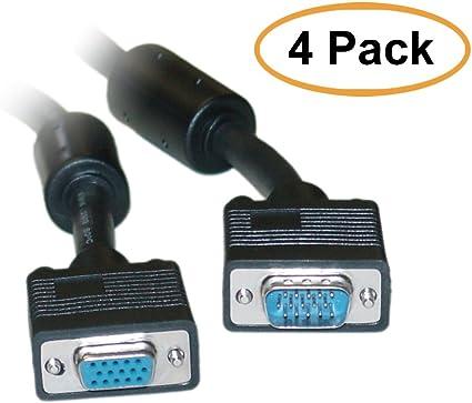 Super VGA cable Male to Female W//Ferrite core 50 feet
