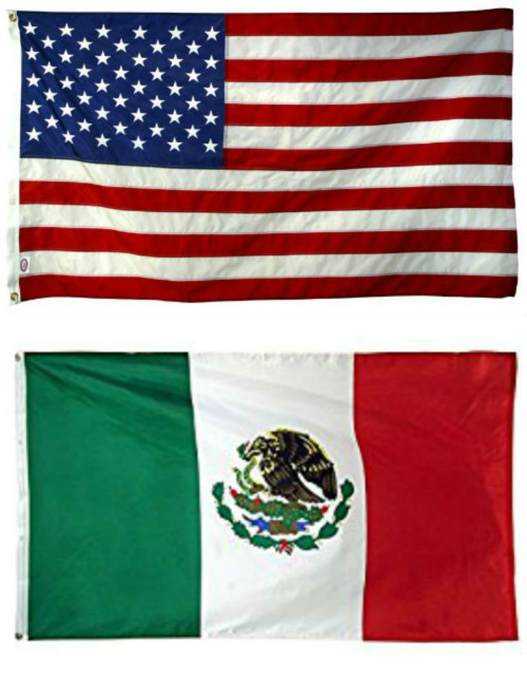 d227d21d66f3 2 x3  Wholesale Combo USA American   Mexico Mexican Super Polyester Nylon  Flags 2X3 ft (60 X 90 CM) House Banner Grommets Double Stitched Fade  Resistant ...