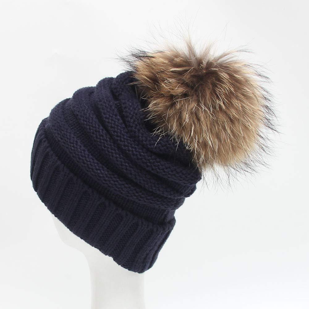 FRGVSXZCX Moda Cappelli Invernali Super Lana 15 cm di Capelli Veri trecce  Decorativi in Lana Super Cappelli da Donna Berretti (Coloreee Beige) per  Esterni ... e61cdefc8e1b