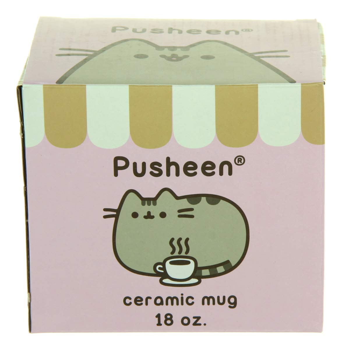 Pusheen Cat 18 oz Mug Mint Heart Catpusheeno Cup