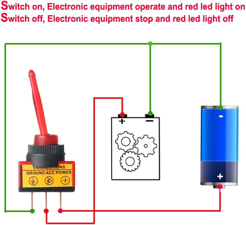 Gazechimp 5 Pi/èces Voiture Camion Tableau De Bord 12v Bascule Bascule LED Interrupteur on-Off Contr/ôle Point Bleu Illumin/é