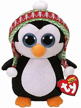 Ty Beanie Boos Penelope, pingüino Navidad, 40 cm (United Labels Ibérica 37249TY)