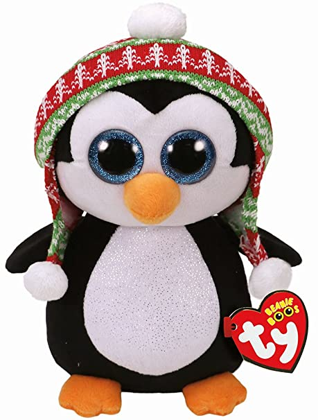 Ty Beanie Babies Boos 37249 Penelope the Christmas Penguin Large Boo