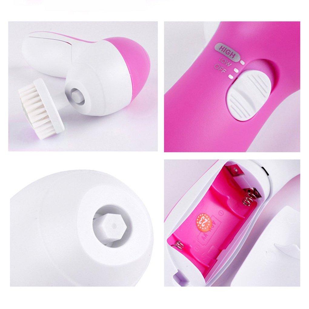 LUFA 5 en 1 Multi-fonction Lavage /Électrique Visage Machine Pore Cleaner Body Facial Nettoyage Massage Mini Peau Beaut/é Masseur Brosse