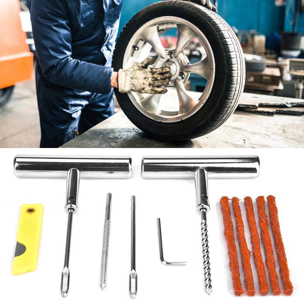 13pcs kit de r/éparation de pneus ensemble doutils de r/éparation de pneus pour motos automobiles avec bo/îte