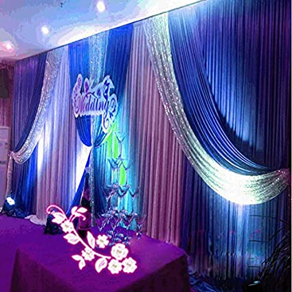 20x10ft silk fabric swag curtainchristmasbirthday partyevent wedding stage decorations