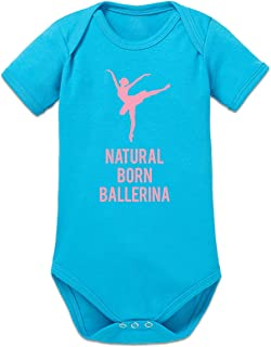 Shirtcity Natural Born Ballerina Baby Strampler by