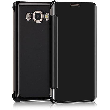Cases, Covers, Keyboard Folios Funda Carcasa Libro Para Samsung Galaxy J7 2016 Flip Tapa Efecto Espejo Negro