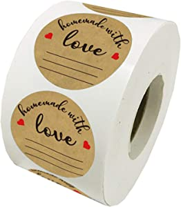 Homemade with Love Stickers with Lines for Writing - 2