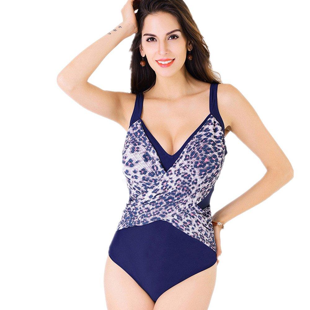 女性の服 水着 女性の服 印刷 シャム 水着 集まる スパ 水着 に適して 水泳 ウェディング エクササイズ スパ (Color : Blue, Size : XXL) B07DZP2QT1 XX-Large|Blue