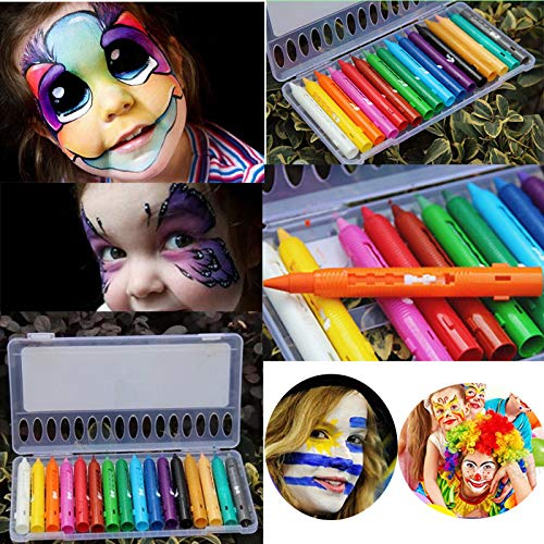 Face Paint Kit 1pc Decorative 16 Color Safe Face Body Paint Crayons Pencils Kit Set Make Up Cosplay Halloween Artificial Decorations ()