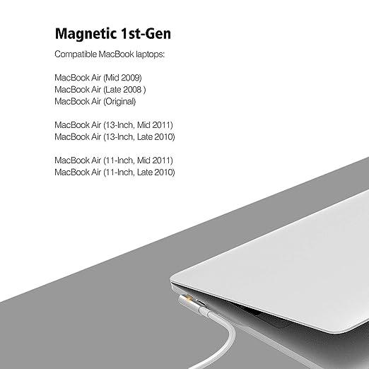 Amazon.com: Cargador Wakeach para MacBook Air, recambio de ...