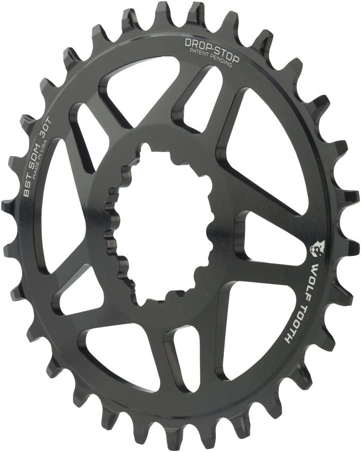 Wolf Tooth Direct Mount Drop-Stop Oval 30T Chainring SRAM BB30 Cranksets Black
