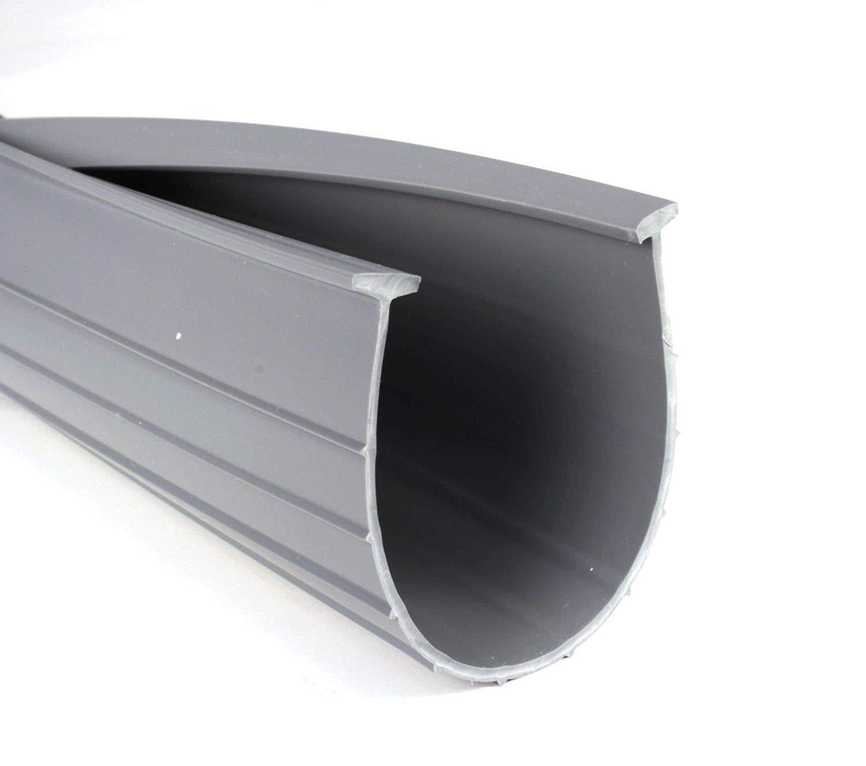 Garage Door 10 Wide Door 3 Garage Door Bottom Seal Weatherstrip in Grey 1//4 T Style