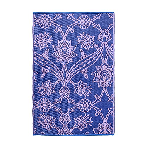 Cheap  Achla Designs Fuchsia Flowers Indoor/Outdoor Floor Mat, 4 x 6-ft, Lavender