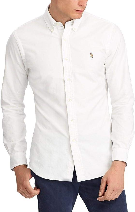 Polo Ralph Lauren Camisa Oxford Blanco para Hombre XXL Blanco ...