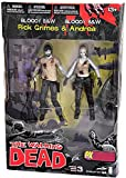 McFarlane Toys The Walking Dead Series 3: Rick and Andrea Action Figure (Bloody Versions) (2-Pack)