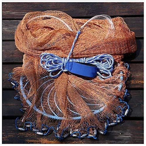 (Fishing Nets, Fish Cast Net,American Hand Throw Fish Nets Casting Sinker Net Bait Trap Catch Shrimp Crab Mesh, for Nautical Freshwater Seawater Bait Traps, (Color : B-2 Lead 5.5ft (1.62m) Radius))