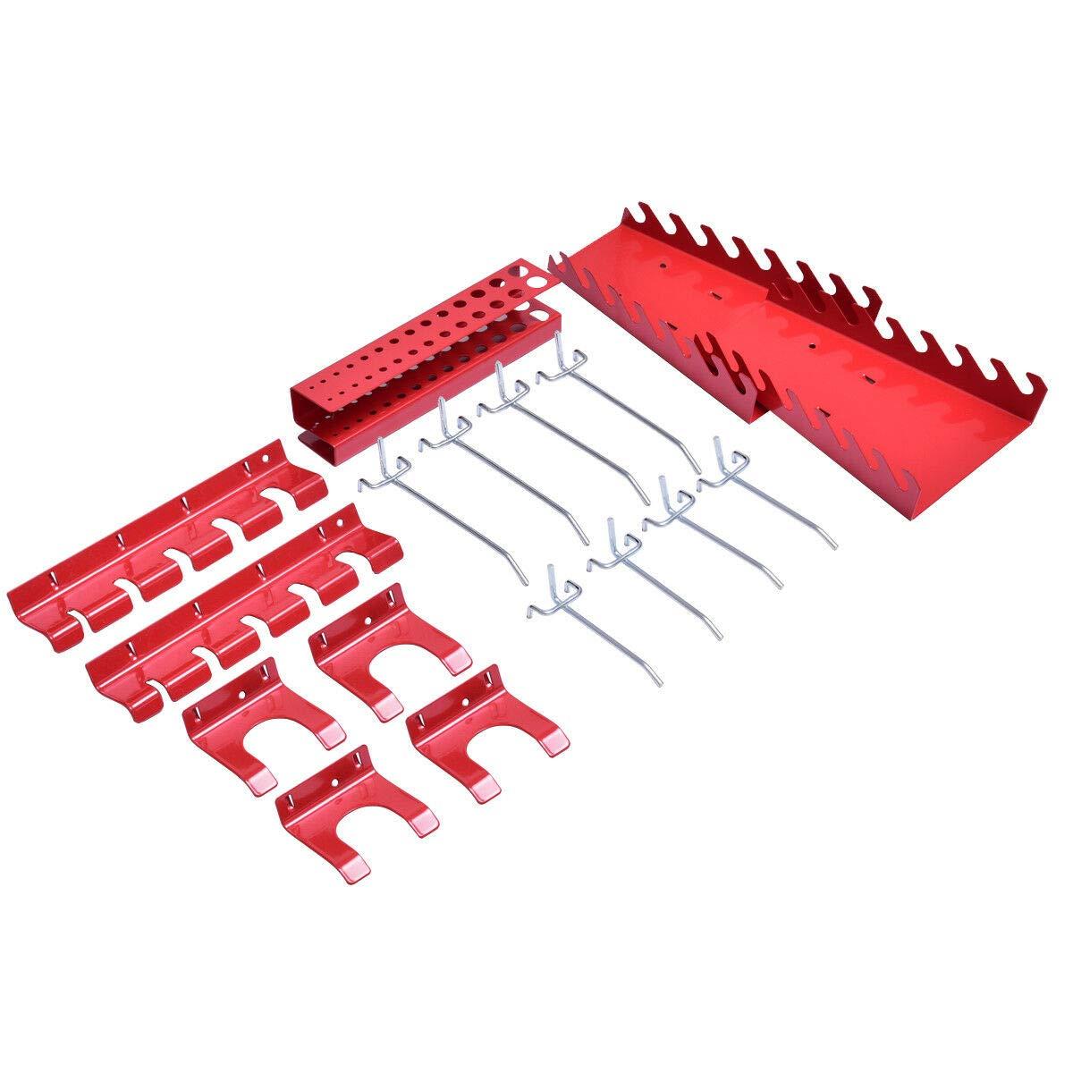 24'' x 48'' Metal Pegboard Panels Garage Tool Board Storage Organizer Holder Black by allgoodsdelight365 (Image #9)