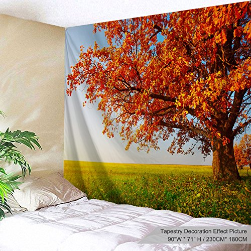 (PROCIDA Home Tapestry Wall Hanging Nature Art Polyester Fabric Tree Theme, Wall Decor for Dorm Room, Bedroom, Living Room, Nail Included - 90