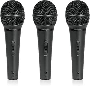 Behringer XM1800S Micrófonos dinámicos e instrumentales cardioides dinámicos (juego de 3)