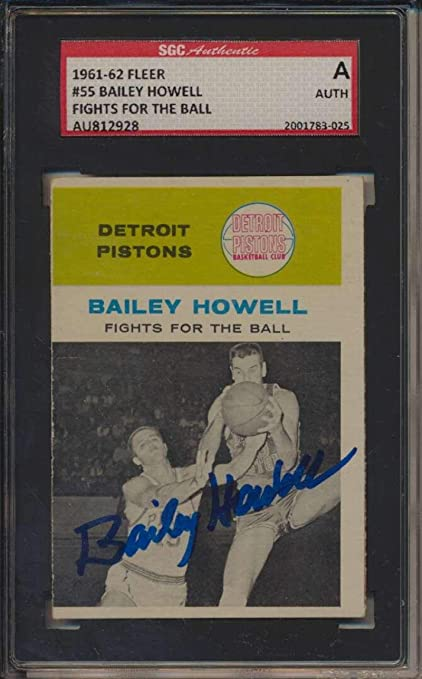 470b24c29 Amazon.com   55 Bailey Howell IA HOF - 1961 Fleer Basketball Cards ...