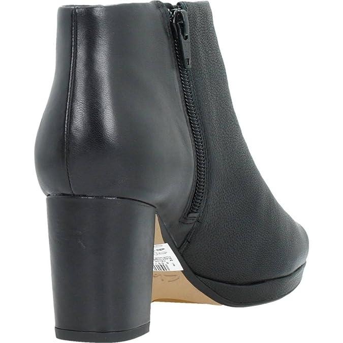 Clarks Soirée Femme Boots/Bottes Kelda Nights En Cuir Noir Taille 39 Chaussures à fermeture éclair Guess blanches femme ZgtYCwsI