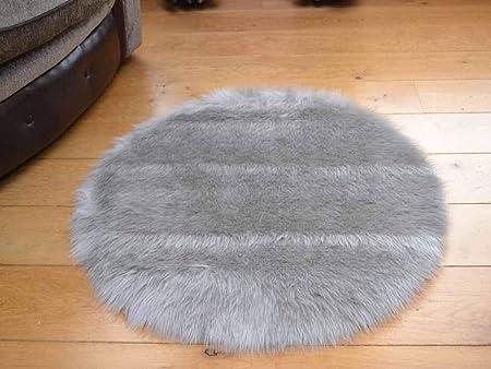 Soft Fluffy Faux Fur Circular Sheepskin Rug Round Floor Mat Available 80//100CM