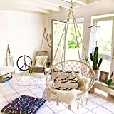 E EVERKING EverKing Hammock Chair Macrame Swing, Perfect for Indoor/Outdoor Home, Patio, Deck, Yard, Garden, 265 Pound Capacity